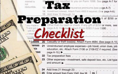 Pronto Income Tax' 2017 Tax Preparation Checklist